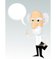 Cartoon Professor vector image vector image