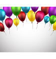Celebrate background with purple balloons vector image vector image