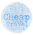 Cheap Air Ticket for Last Minute Travel text vector image vector image
