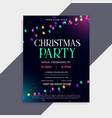 christmas party poster design with decoration vector image vector image