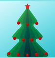 christmas tree with ball vector image vector image