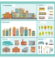 City Buildings Infographics vector image vector image