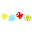 colorful blot splash icon set line inkblot flat vector image