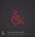 cripple outline symbol red on dark background logo vector image vector image