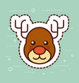 cute reindeer merry christmas decoration vector image vector image