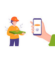 delivery service mobile application vector image vector image