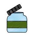 empty glass bottle vector image vector image