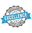 excellence stamp sign seal vector image vector image