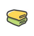 folded bath towels icon cartoon
