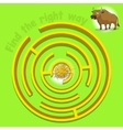 Game labyrinth find a way bull vector image vector image