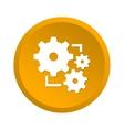 Gear yellow icon vector image vector image
