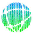 halftone blue-green network icon vector image vector image