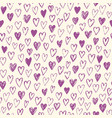 hand drawn doodle heart seamless pattern vector image