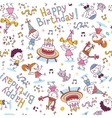 Happy Birthday kids party pattern vector image vector image