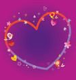 heart frame with copy space for your text vector image vector image