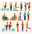 Hipster People Flat Set vector image vector image