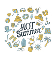 hot summer round pattern vector image vector image
