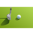 Iron and ball golf vector image vector image