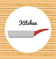 kitchen pan utensil icon vector image