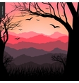 Layered landscape poster vector image vector image
