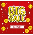 lettering hanging big sale special offer vector image