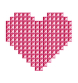 love heart symbol made 3d abstract squares vector image