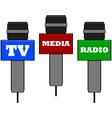 Media microphones vector image