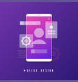 mobile ui ux design app development concept vector image