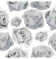 monochrome pattern roses vector image