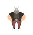 old viking with gray beard and long mustache in vector image