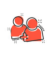 people communication user profile icon in comic vector image vector image