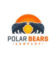 polar bear animal logo design vector image vector image