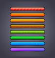 progress bar for games vector image vector image