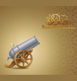 ramadan background with cannon vector image vector image