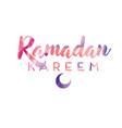 ramadan kareem greetings typography design vector image vector image