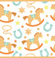 seamless pattern bacowboy with western vector image