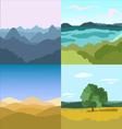 set of 4 images Landscapes vector image vector image