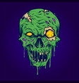 skull zombie isolated vector image vector image