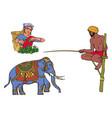 sri-lanka india symbols set isolated vector image