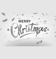 stock text merry christmas vector image vector image