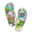 summer slippers abstract design vector image vector image