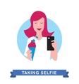 Take a photo selfie vector image