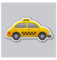 taxi sticker vector image vector image