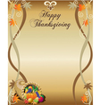 Thanksgiving menu or stationary vector image