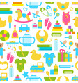 toys for children set pattern vector image vector image