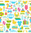 toys for children set pattern vector image vector image