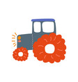 tractor heavy agricultural industrial machinery vector image vector image