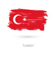 turkey colorful brush strokes painted national vector image