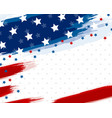 usa or american flag paintbrush banner vector image