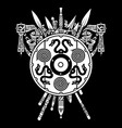 viking design viking shield and swords set of vector image vector image